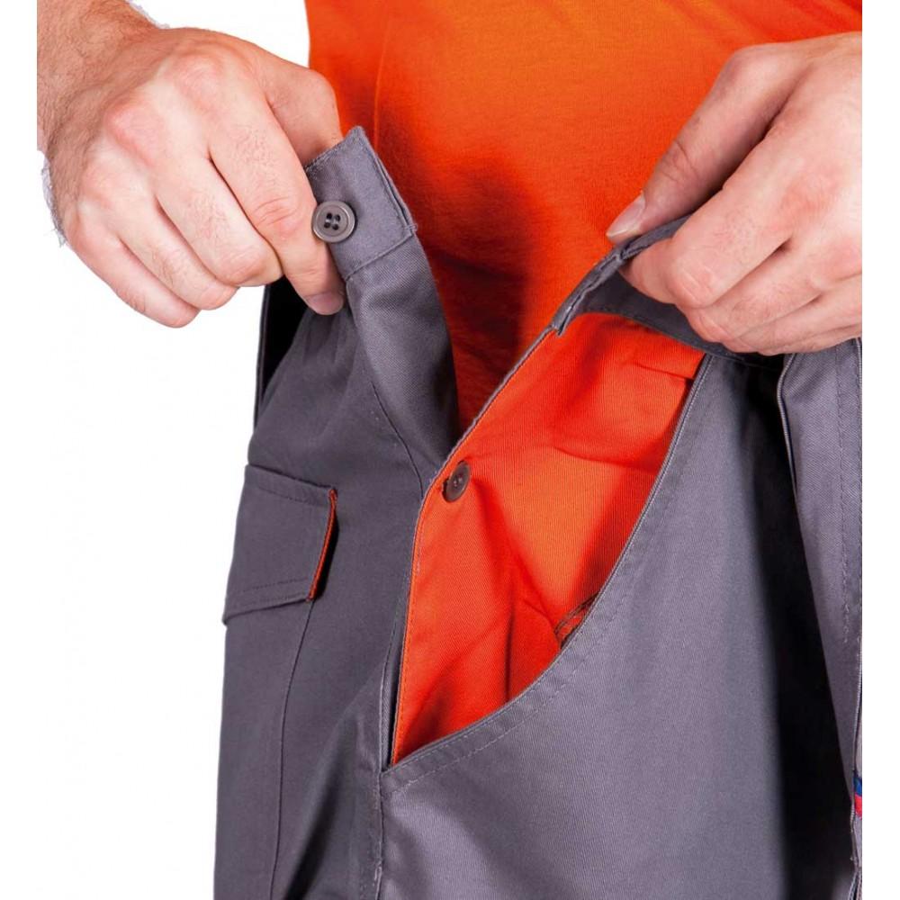 DESMAN nohavice s náprsenkou